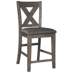See Details - Caitbrook Counter Height Upholstered Bar Stool