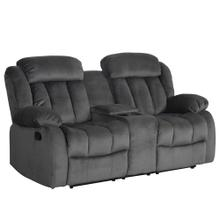 See Details - Reclining Loveseat w/Console in Charcoal - SU-ZY550 Madison