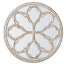 Carved Whitewash Medallion Overlay Wall Mirror Product Image