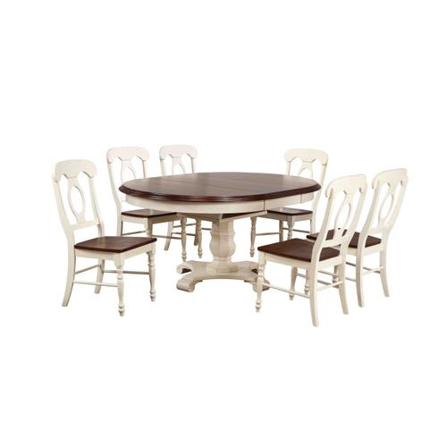 Butterfly Leaf Dining Set w/Napoleon Chairs (7 Piece)