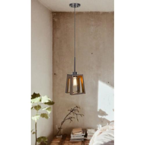 60W Biel Wood Pendant (Edison Bulb Not included)