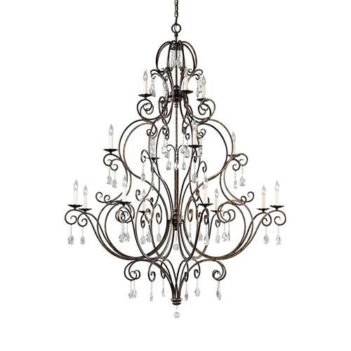 Chateau Extra Large Chandelier Mocha Bronze
