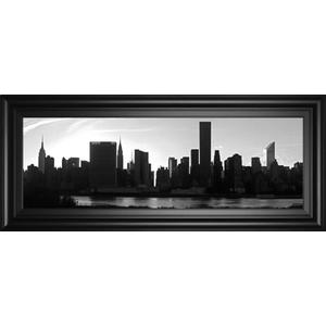 """""""Panorama Of NYC VI"""" By Jeff Pica Framed Print Wall Art"""