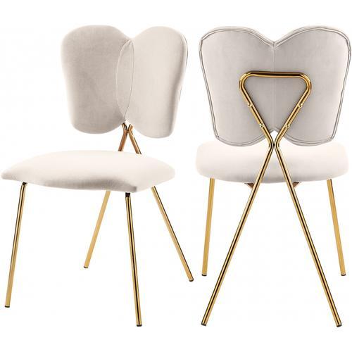 """Angel Velvet Dining Chair - 19"""" W x 22"""" D x 33.5"""" H"""
