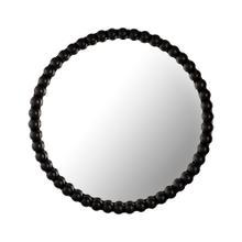 See Details - Baria Black Wooden Mirror