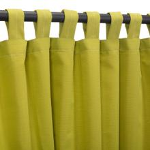 See Details - Sunbrella Echo Limelite Outdoor Curtain with Tabs