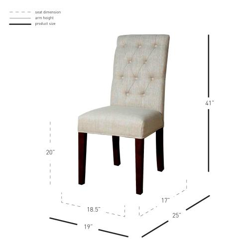 Gwendoline Tufted Dining Side Chair, Rice