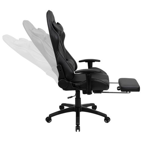 Gallery - X30 Gaming Chair Racing Office Ergonomic Computer Chair with Reclining Back and Slide-Out Footrest in Gray LeatherSoft