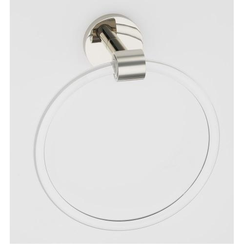 Acrylic Contemporary Towel Ring A7240 - Polished Nickel