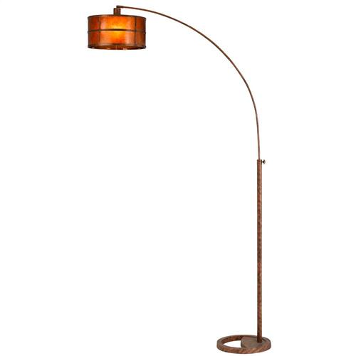 100W Metal Mica Single Arm Heavy Duty Arc Floor Lamp