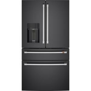 Café™ ENERGY STAR® 27.8 Cu. Ft. Smart 4-Door French-Door Refrigerator - MATTE BLACK