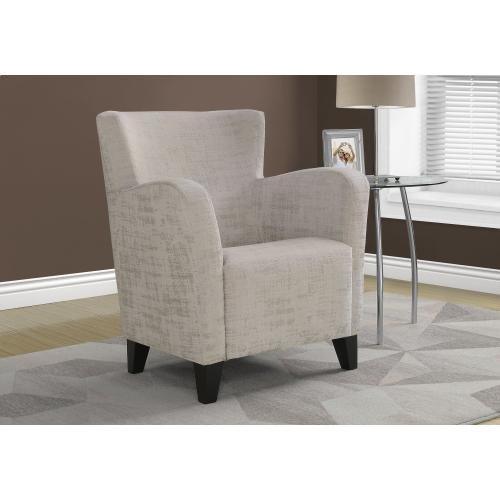 Gallery - ACCENT CHAIR - TAUPE BRUSHED VELVET FABRIC