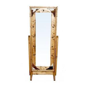 Cowhide Chevel Mirror