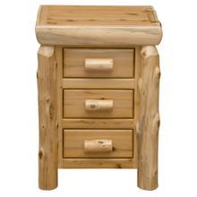 See Details - Three Drawer Nightstand - Natural Cedar