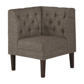 Tripton Corner Upholstered Bench Graphite