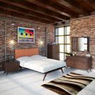 Tracy 5 Piece Queen Bedroom Set in Cappuccino Orange Product Image