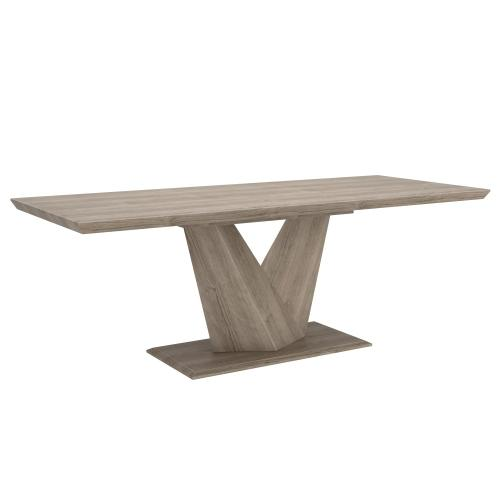 Eclipse Dining Table with Extension in Washed Oak