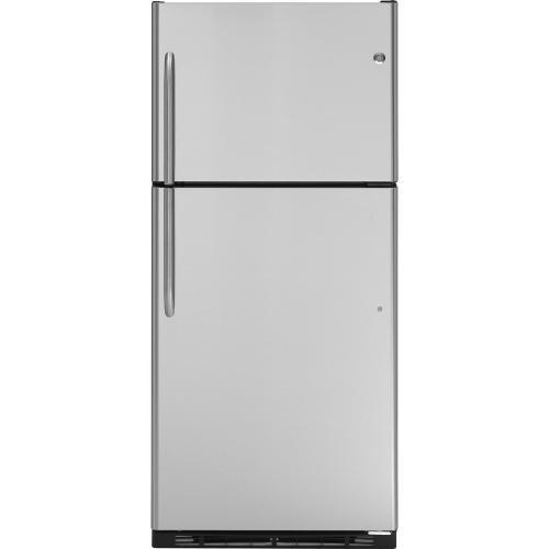 GE® 17.9 Cu. Ft. Stainless Top-Freezer Refrigerator