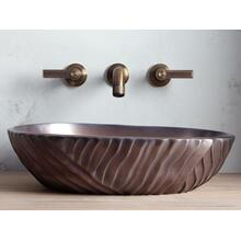 See Details - Wall-Mount Sink Faucet, Lever Handles - Nickel Silver