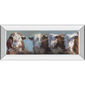 """Little Bull & The Babes"" By Carolyne Hawley Mirror Framed Print Wall Art"