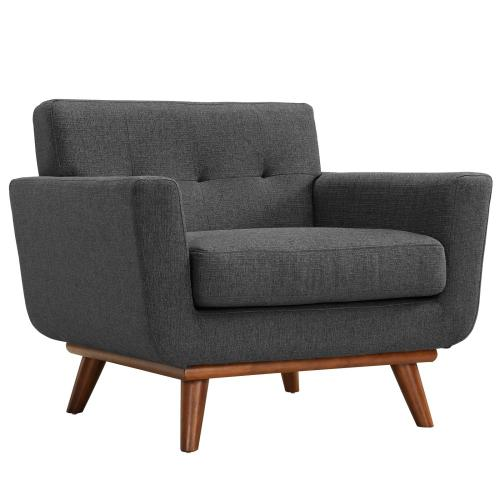 Modway - Engage Armchairs and Loveseat Set of 3 in Gray