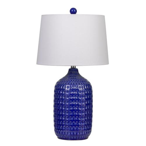150W Adelaide Ceramic Table Lamp With Taper Drum Linen Hardback Shade (Priced And Sold As Pairs)
