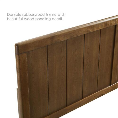 Modway - Robbie King Wood Headboard in Walnut