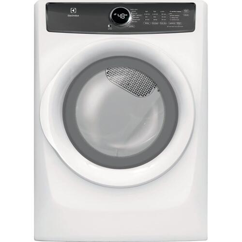 SCRATCH & DENT Front Load Perfect Steam Electric Dryer with 7 cycles - 8.0 Cu. Ft.