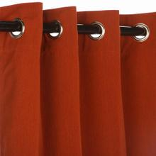 See Details - Sunbrella Canvas Brick Outdoor Curtain with Grommets