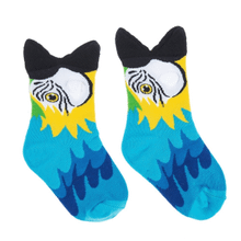 See Details - Blue Parrot Big Mouth Socks -Youth Shoe Size 8-13 (1 pair)