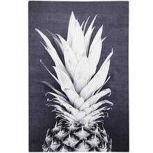 PINEAPPLE POSE  HAND EMBELLISHED  36in X 24in  Black And White Bold Pineapple Pose Canvas