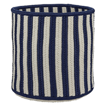 "Baja Stripe Basket BJ53 Navy 12"" X 10"""