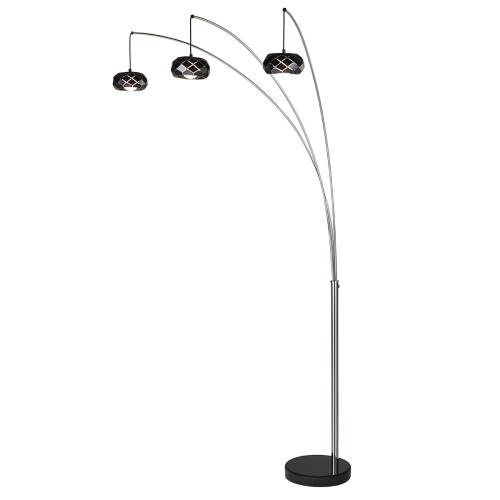 "90""h 3-arm Arc Floor Lamp"