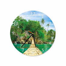 Bridge On Beach Round Square Acrylic Wall Clock