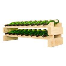 2 x 9 Bottle Modular Wine Rack (Natural)