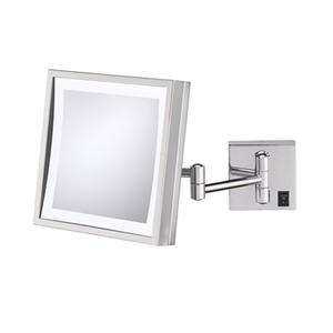 Chrome Single-Sided LED Square Wall Mirror Product Image