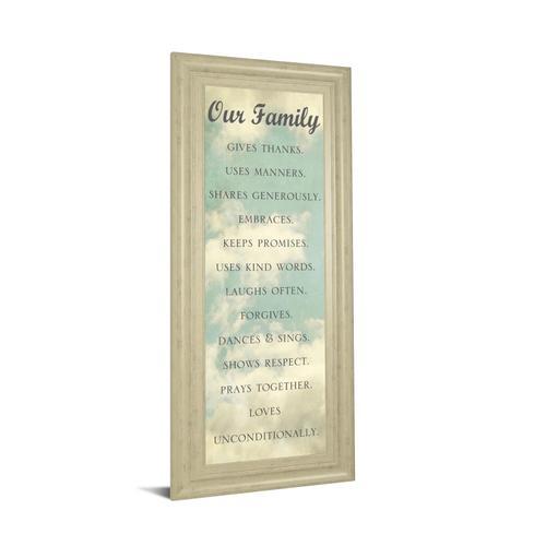 """Our Family"" By Sarah Gardner Framed Print Wall Art"