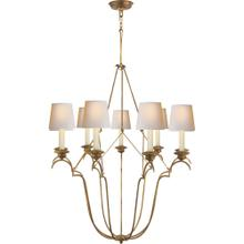 Visual Comfort CHC1403GI-NP E. F. Chapman Belvedere 9 Light 33 inch Gilded Iron Chandelier Ceiling Light