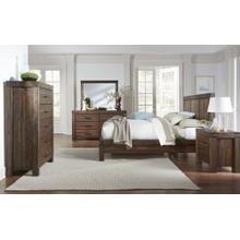 Meadow Queen Platform Bed (Brick Brown)