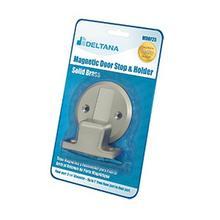 """Magnetic Door Holder Flush 2-1/2"""" Diameter Blister Pack - Brushed Nickel"""