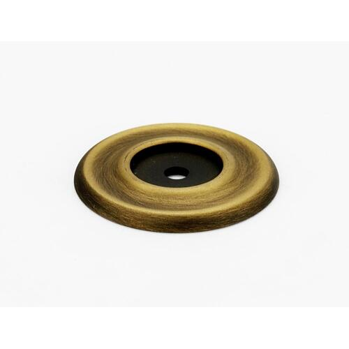 Traditional Backplate A615-38 - Unlacquered Brass