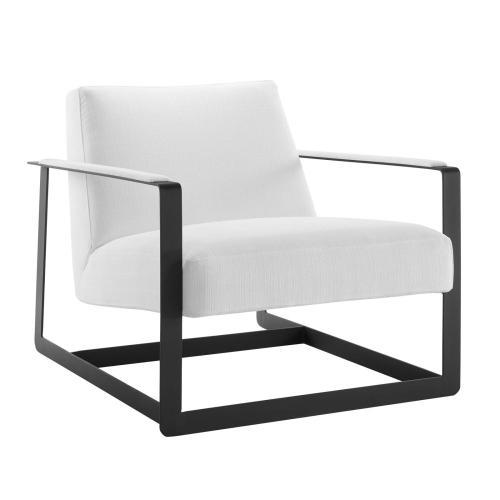 Seg Upholstered Accent Chair in Black White