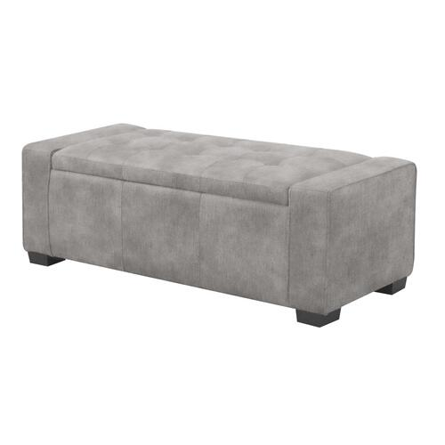 Storage Bench in Beige Fabric