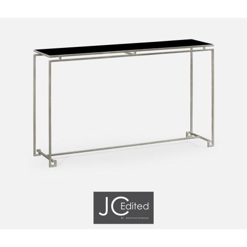 Silver iron large console table