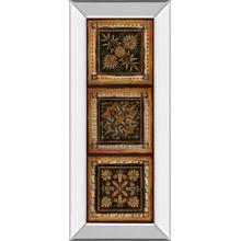 """Folk Art Panel I"" By Tava Studios Mirror Framed Print Wall Art"