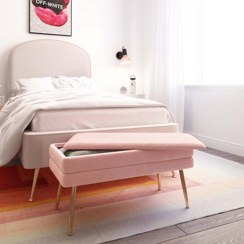 Tov Furniture - Ziva Blush Storage Bench