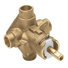 "M-Pact Posi-Temp ® 1/2"" CC connection includes pressure balancing"