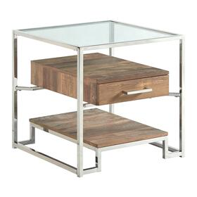 Matrix Square Storage End Table