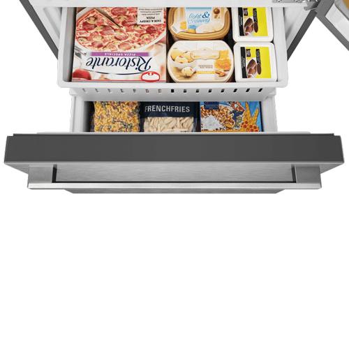 Hisense - Full Size - Hisense 17.1-Cu Ft Refrigerator - Fingerprint-Resistant Stainless Steel