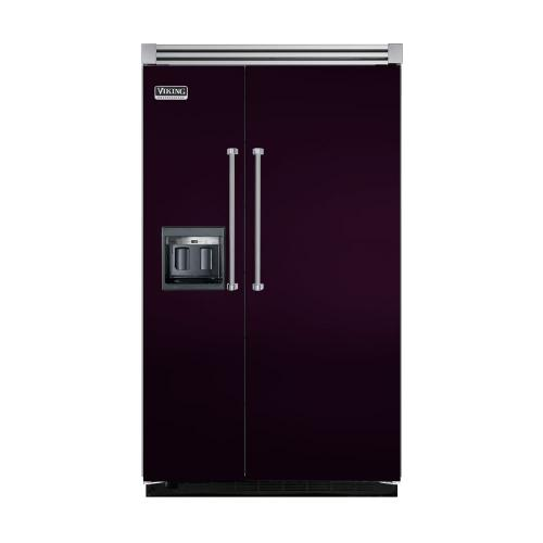 "Viking - Plum 48"" Side-by-Side Refrigerator/Freezer with Dispenser - VISB (Integrated Installation)"